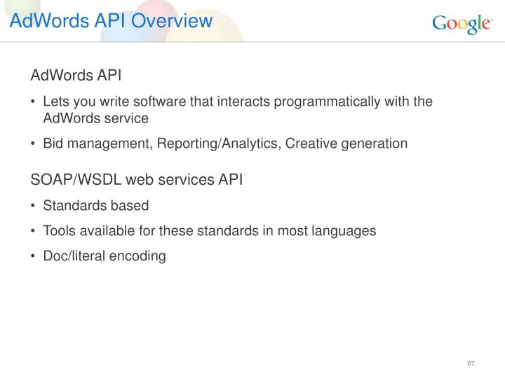AdWords API Overview