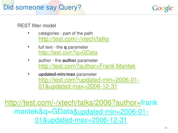 Did someone say Query?