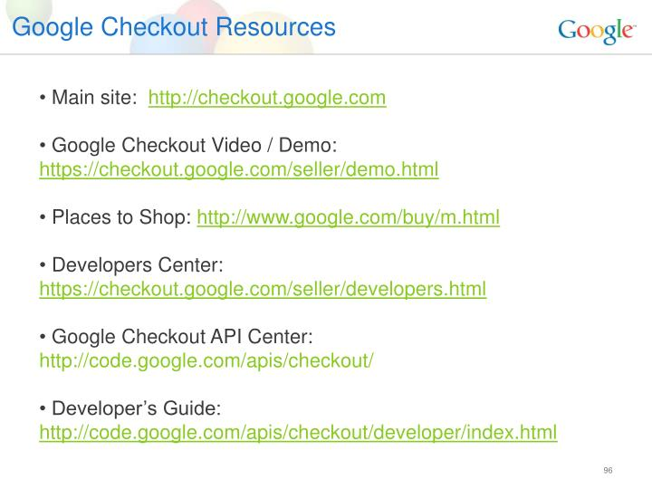 Google Checkout Resources
