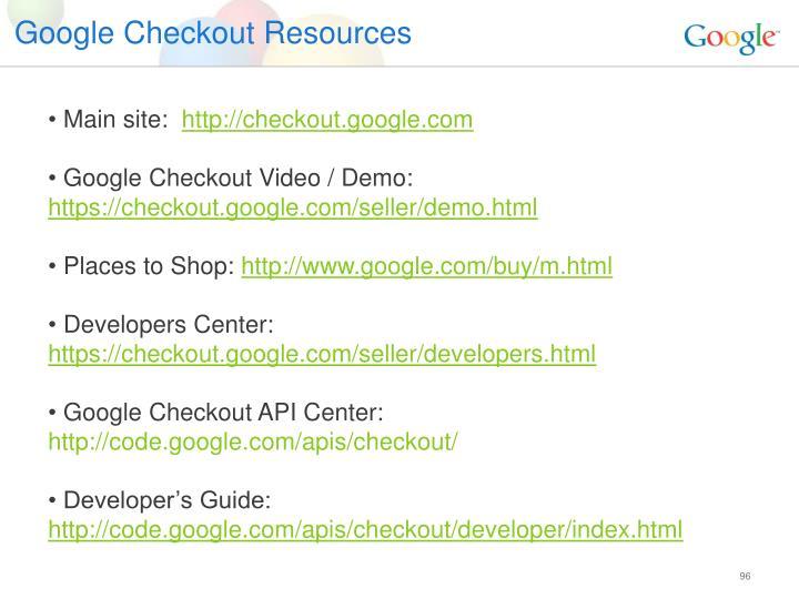 Google Checkout Resources