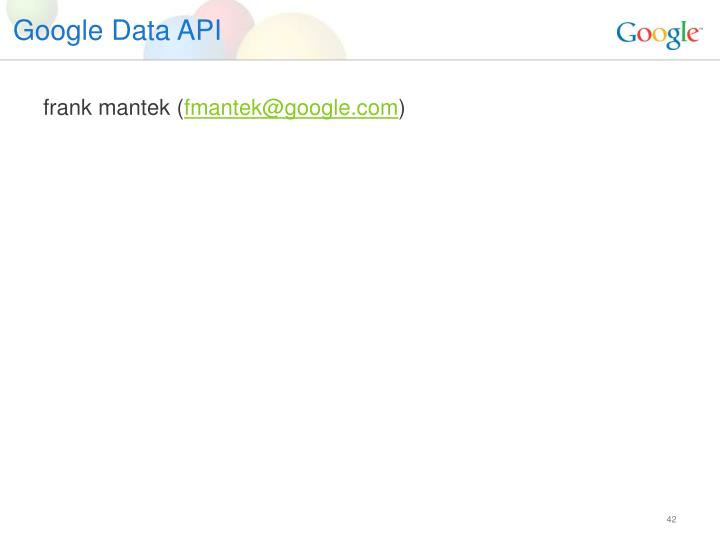 Google Data API