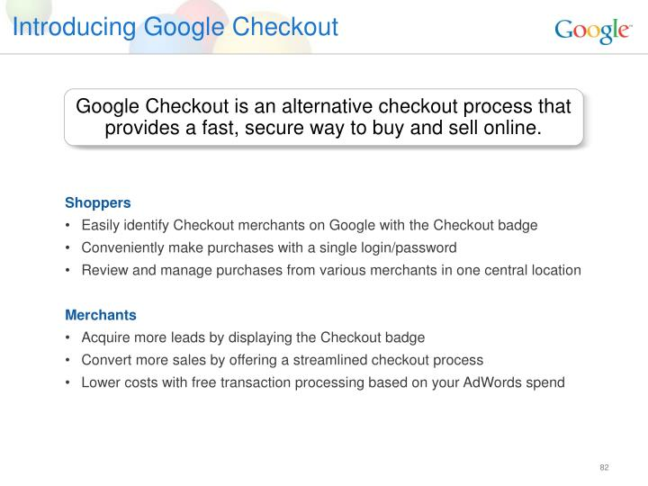 Introducing Google Checkout