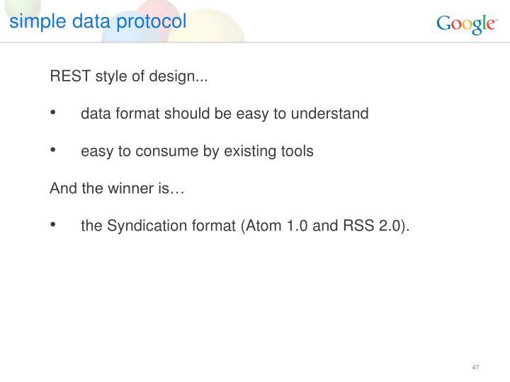 simple data protocol