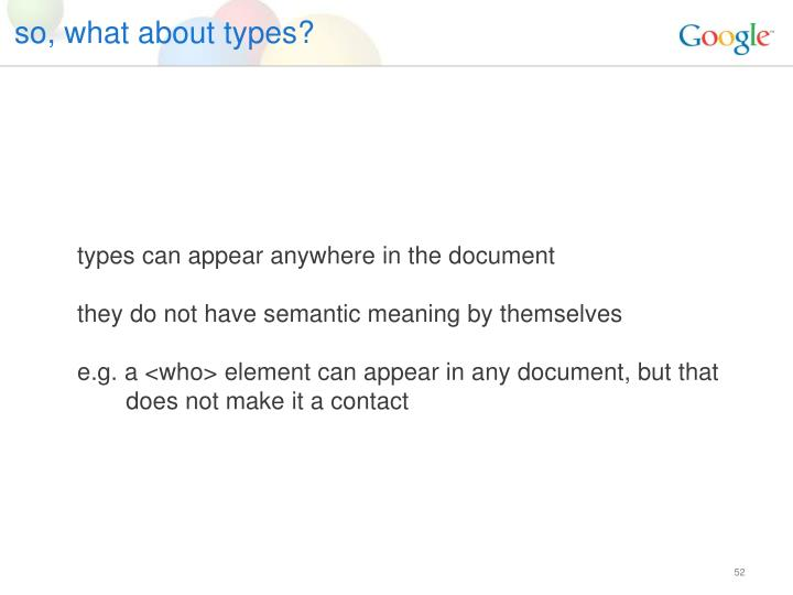 so, what about types?
