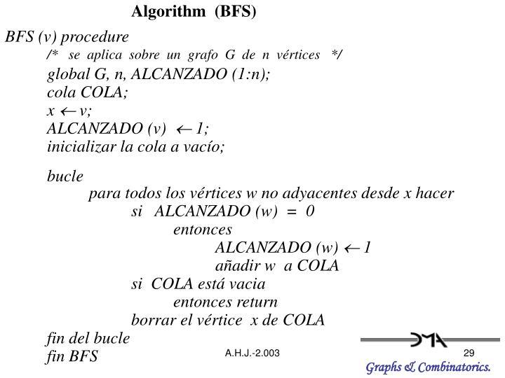 Algorithm  (BFS)