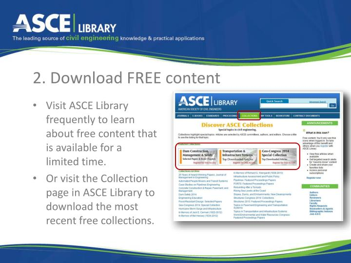2. Download FREE content