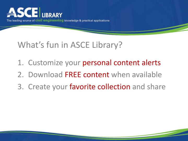 What's fun in ASCE Library