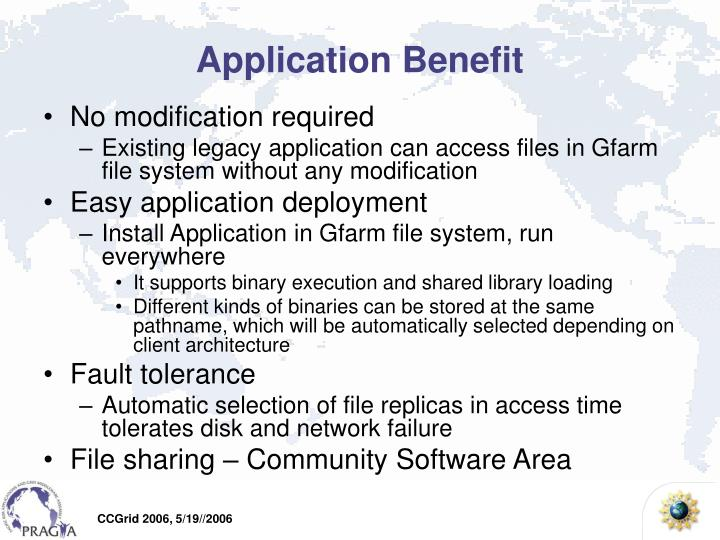 Application Benefit