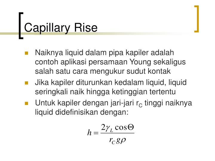 Capillary Rise