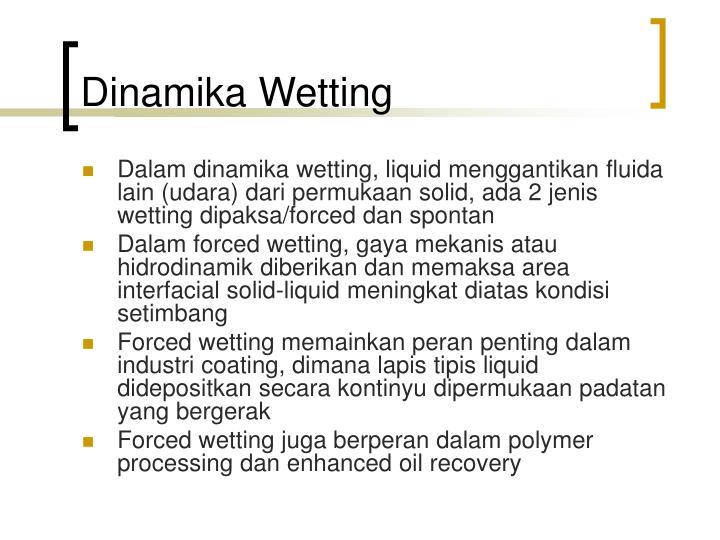 Dinamika Wetting