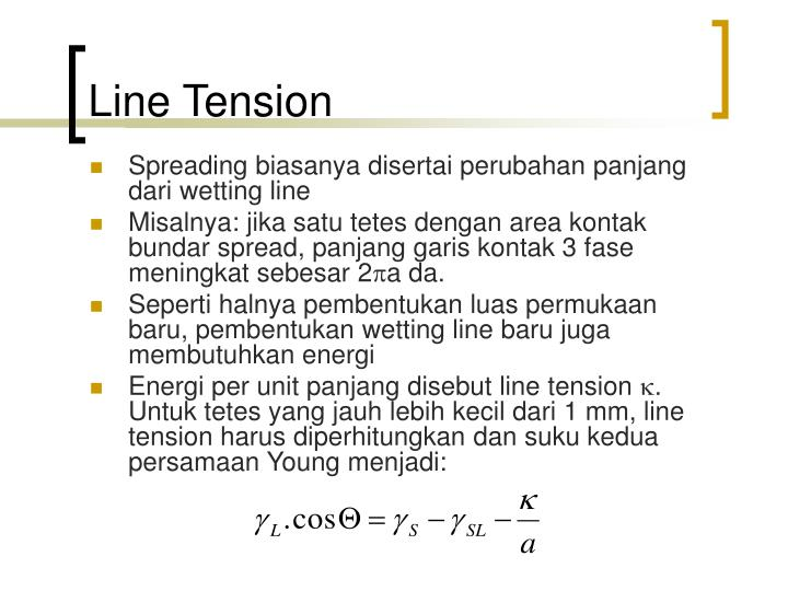 Line Tension