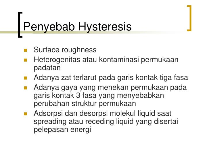 Penyebab Hysteresis