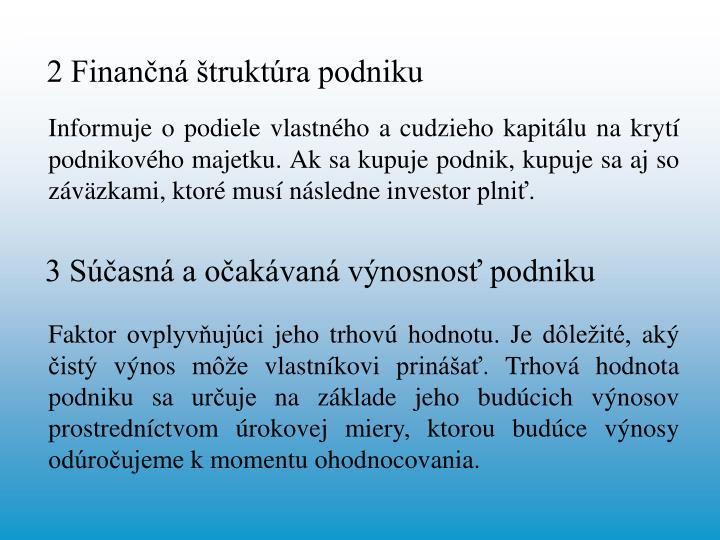 2 Finančná štruktúra podniku