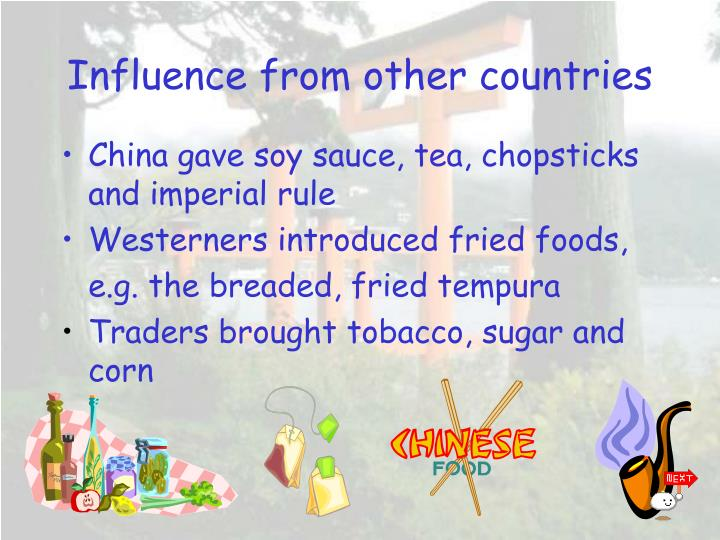 Influence from other countries