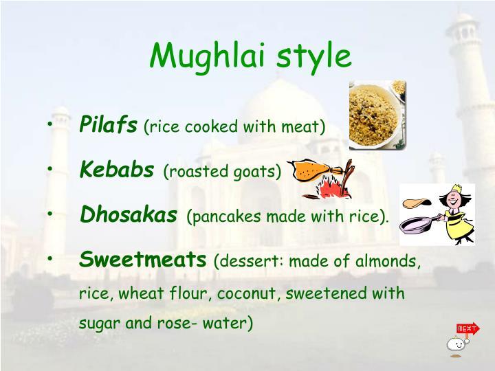 Mughlai styl