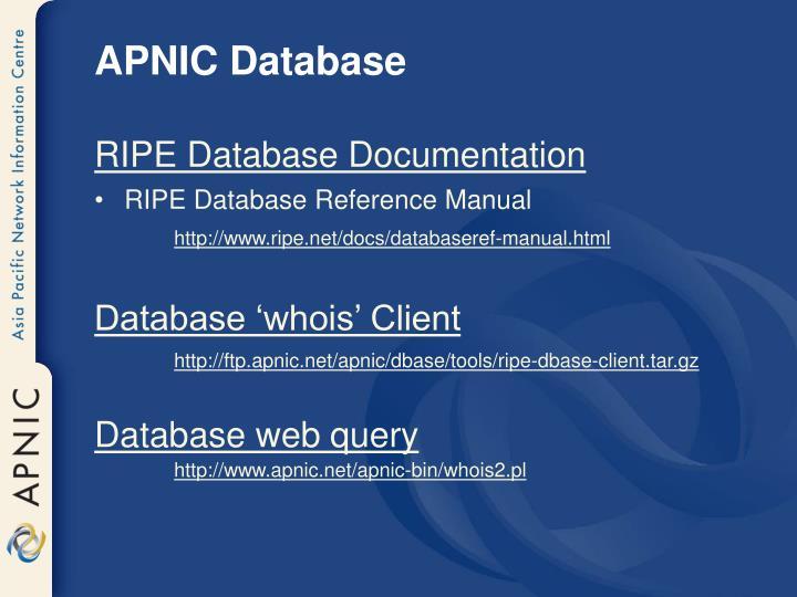 APNIC Database