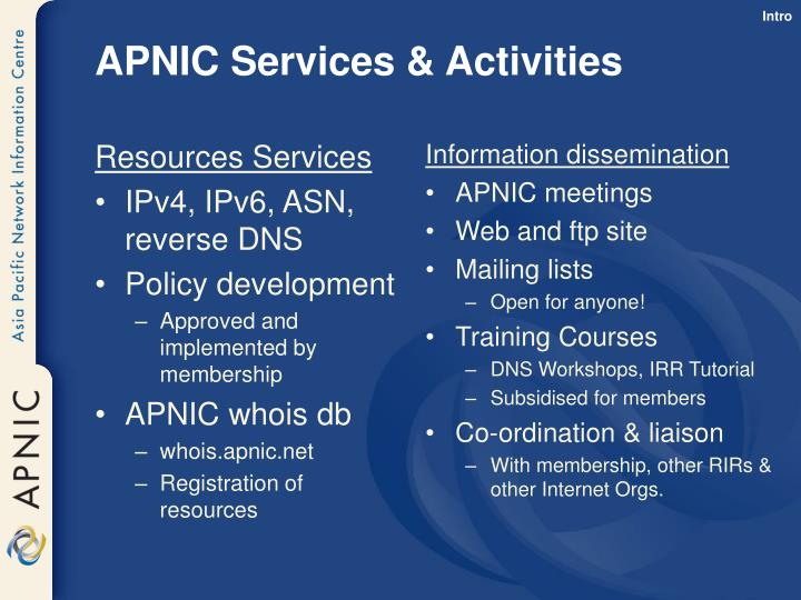Resources Services