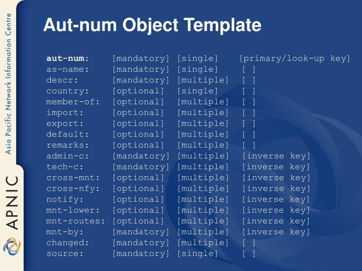 Aut-num Object Template