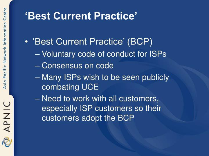 'Best Current Practice'