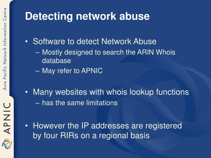 Detecting network abuse