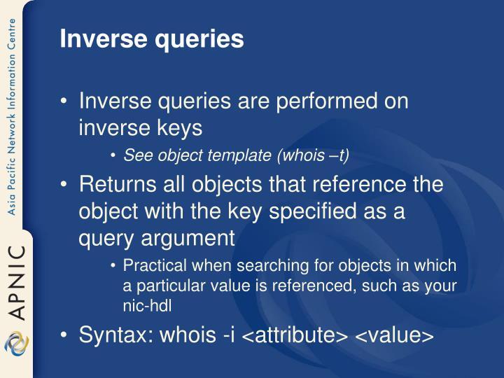Inverse queries