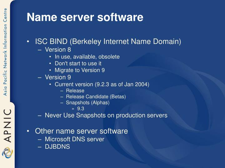 Name server software