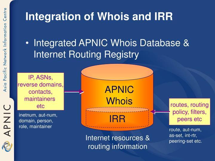 IP, ASNs,