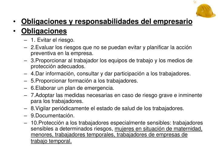 Obligaciones y responsabilidades del empresario