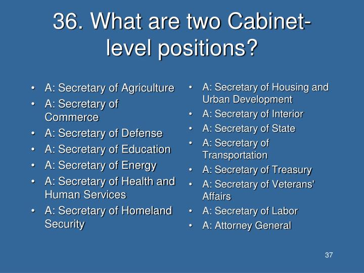 A: Secretary of Agriculture