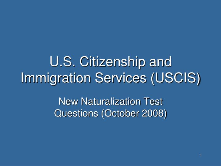 U s citizenship and immigration services uscis