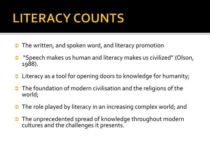 LITERACY COUNTS