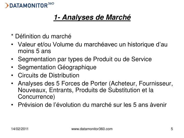 1- Analyses de Marché