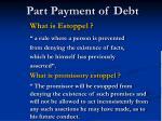 part payment of debt10