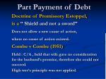 part payment of debt13