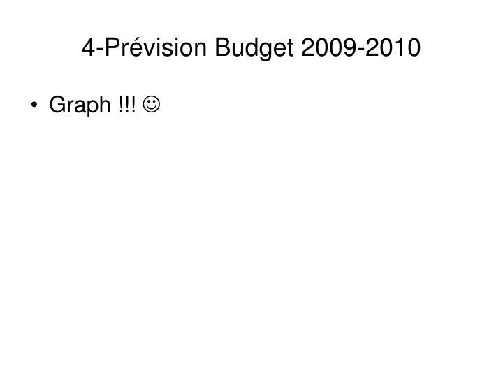 4-Prévision Budget 2009-2010