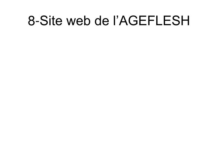 8-Site web de l'AGEFLESH