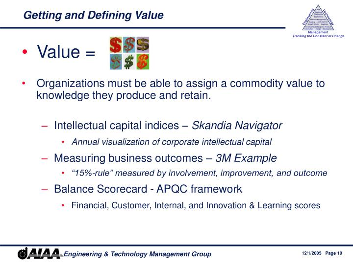 Getting and Defining Value