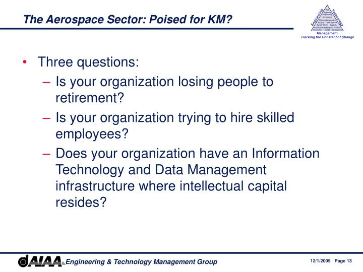 The Aerospace Sector: Poised for KM?