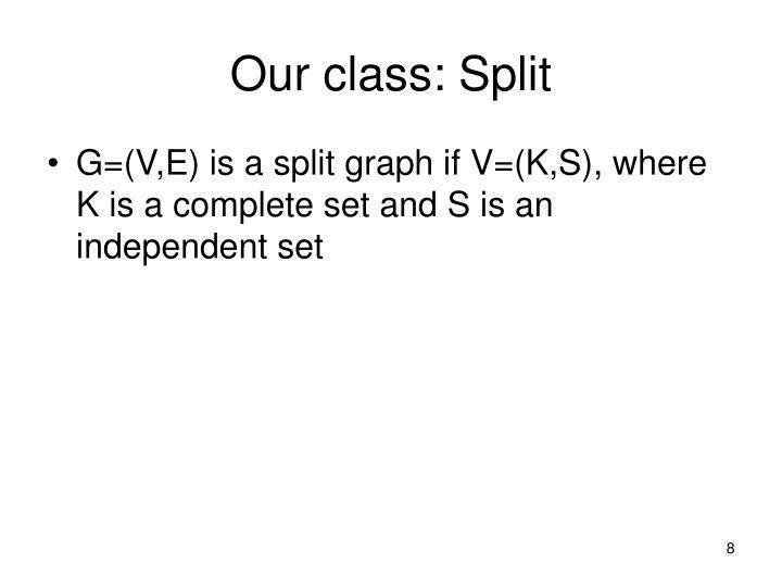Our class: Split
