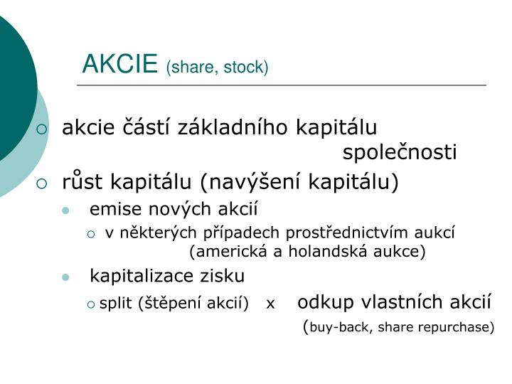 Akcie share stock