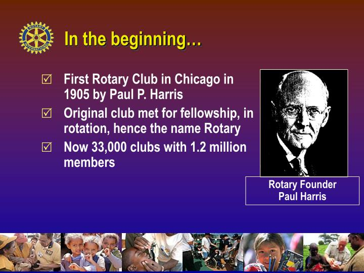 Rotary Founder