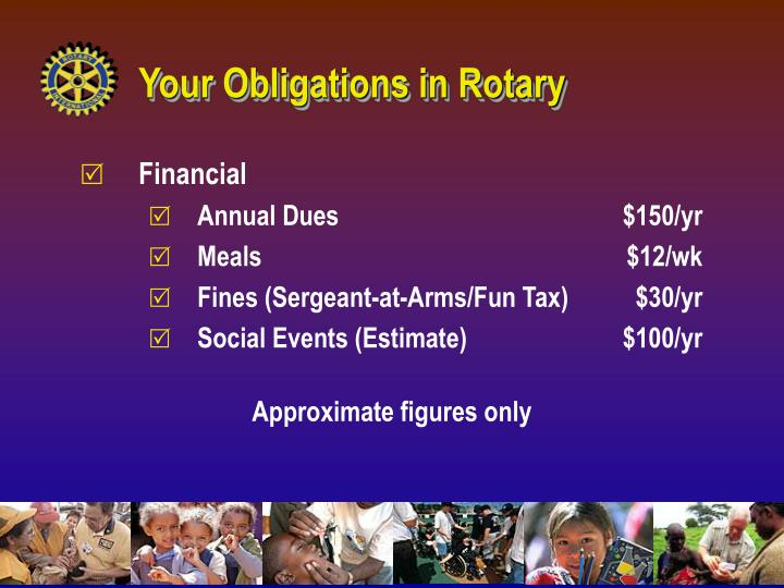 Your Obligations in Rotary