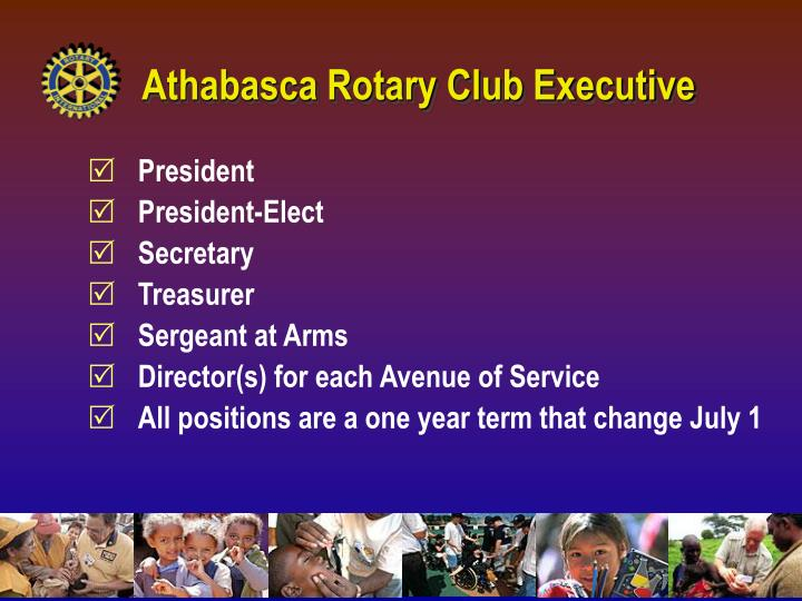 Athabasca Rotary Club Executive
