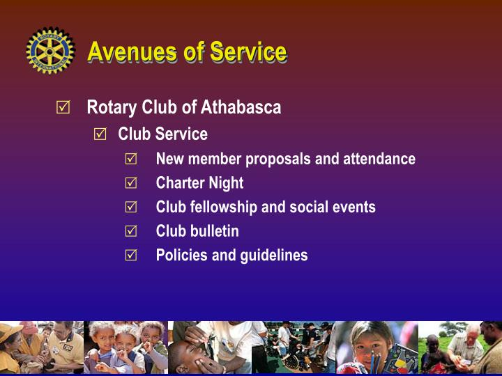 Avenues of Service