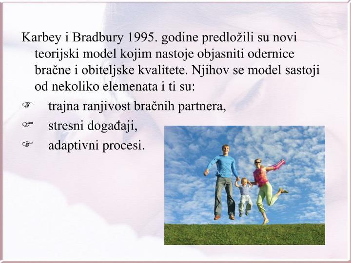 Karbey i Bradbury 1995. godine predložili su novi teorijski model kojim nastoje objasniti odernice bračne i obiteljske kvalitete. Njihov se model sastoji od nekoliko elemenata i ti su: