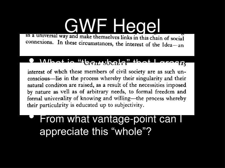 GWF Hegel