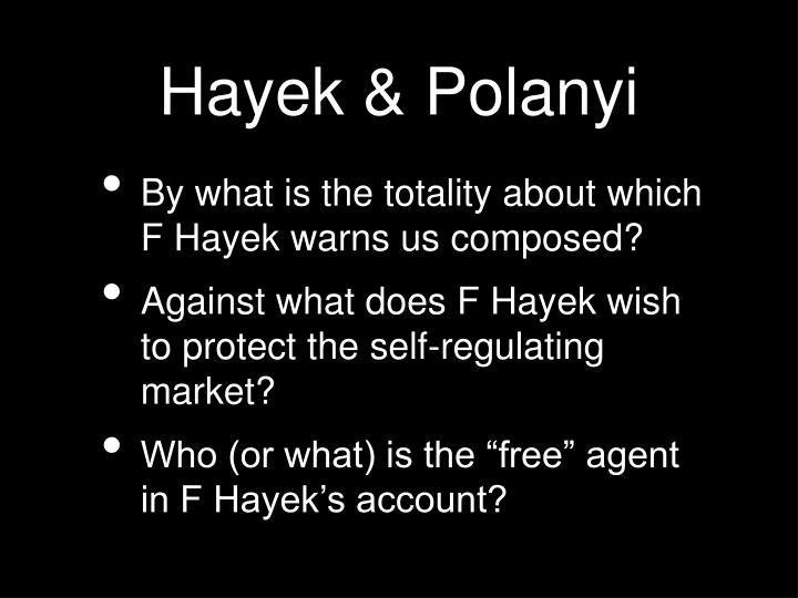 Hayek & Polanyi
