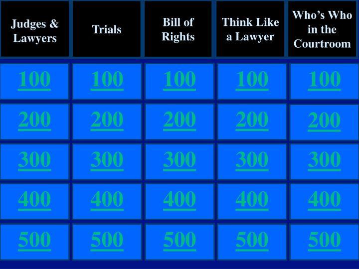 Judges & Lawyers