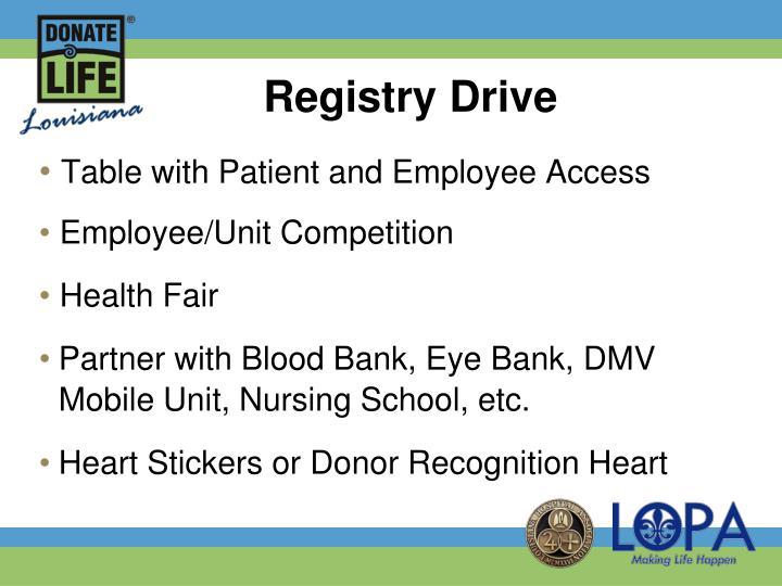 Registry Drive