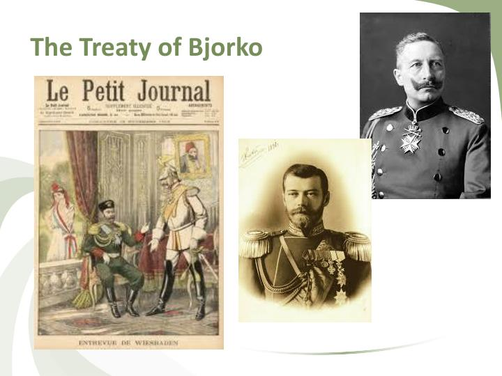 The Treaty of Bjorko